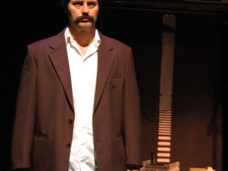 Michael Lawrence in character as Keith Murdoch
