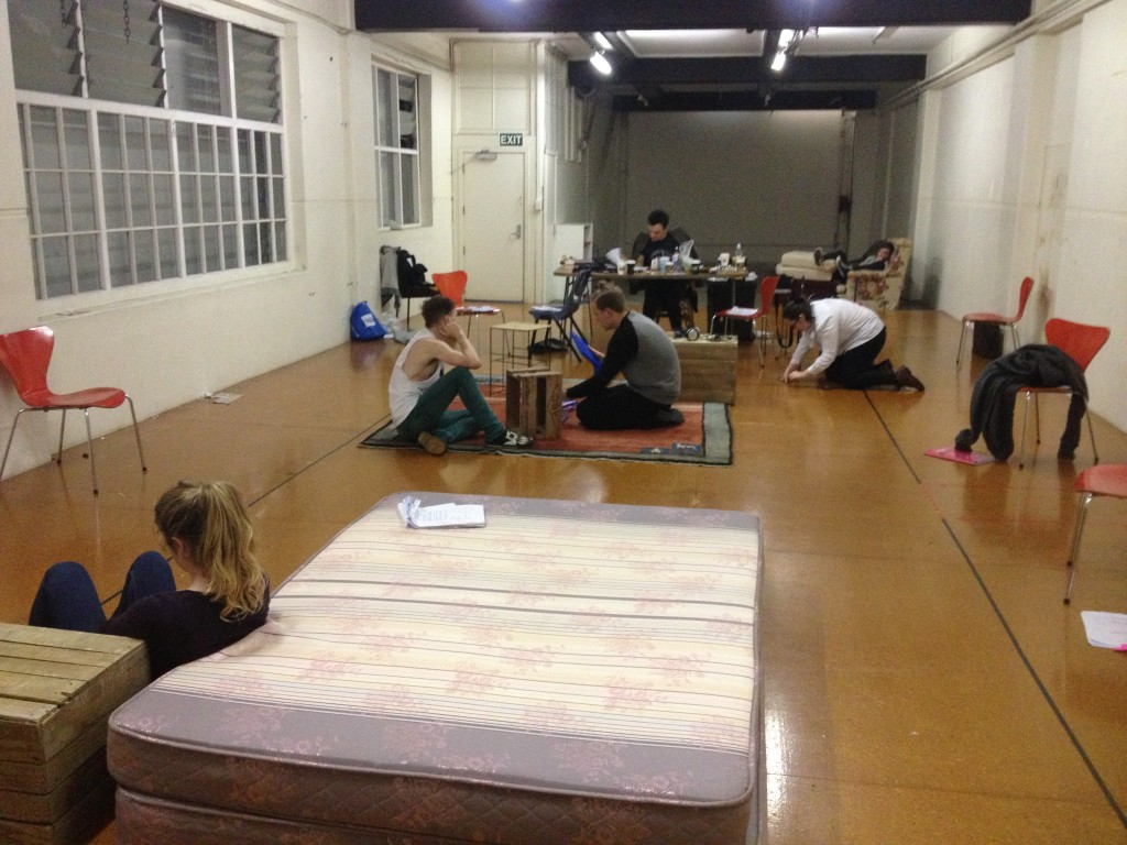 Team working hard in the rehearsal room