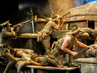 Once on Chanuk Bair by Maurice Shadbolt, directed Ian Mune, co-director Cameron Rhodes , Auckland Theatre Company; photographed by Michael Smith
