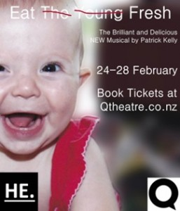 """TUESDAY'S PICK: Eat the Young Fresh is a musical with a """"challenging score"""" and """"grusome plot"""". I'm in it for the superb cast: Paul Fagamalo, Romy Hooper and Alexandra McKellar"""