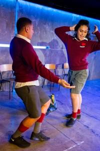 Inky Pinky Ponky, Next Big Thing 2015, Auckland Theatre Company. by Amanaki Prescott-Faletau and Leki Jackson-Bourke, dir Fasitua Amosa.  Dress Rehearsal Photographs ; photography -  Michael Smith