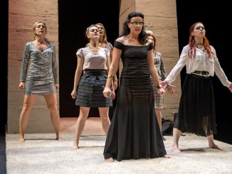Lysistrata, Auckland Theatre Company.  dir. Michael Hurst.  Dress Rehearsal Photographs ; photography -  Michael Smith