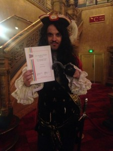 Capt. James Hook was honoured to receive the inaugural Pantograph Punch Award for Best Critic at the  2015 Auckland Theatre Awards.