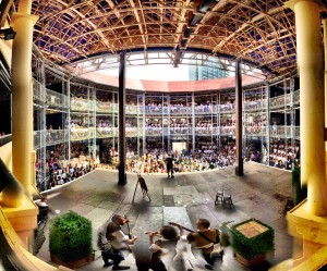 The interior of the Pop-up Globe is breathtaking