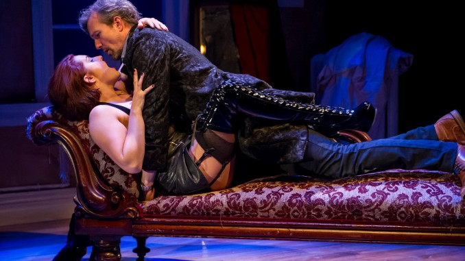 Venus in Fur by David Ives, an ATC Production, dir Shane Bosher,starring Morgana O'Reilly and Craig Hall. Production photographs Michael Smith